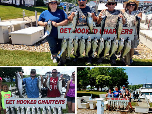 Get hooked fishing charters lake michigan fishing for Michigan city fishing charters